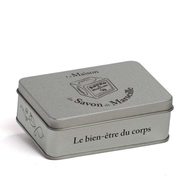 Boîte métal Cube de Marseille inox