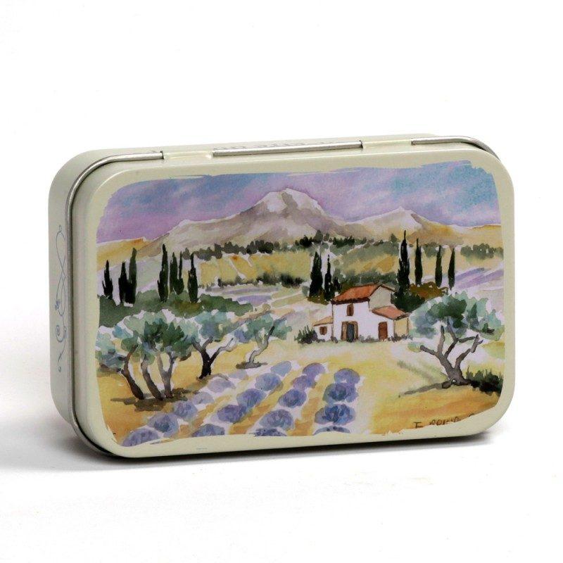 Boîte savon métal - Baux de Provence