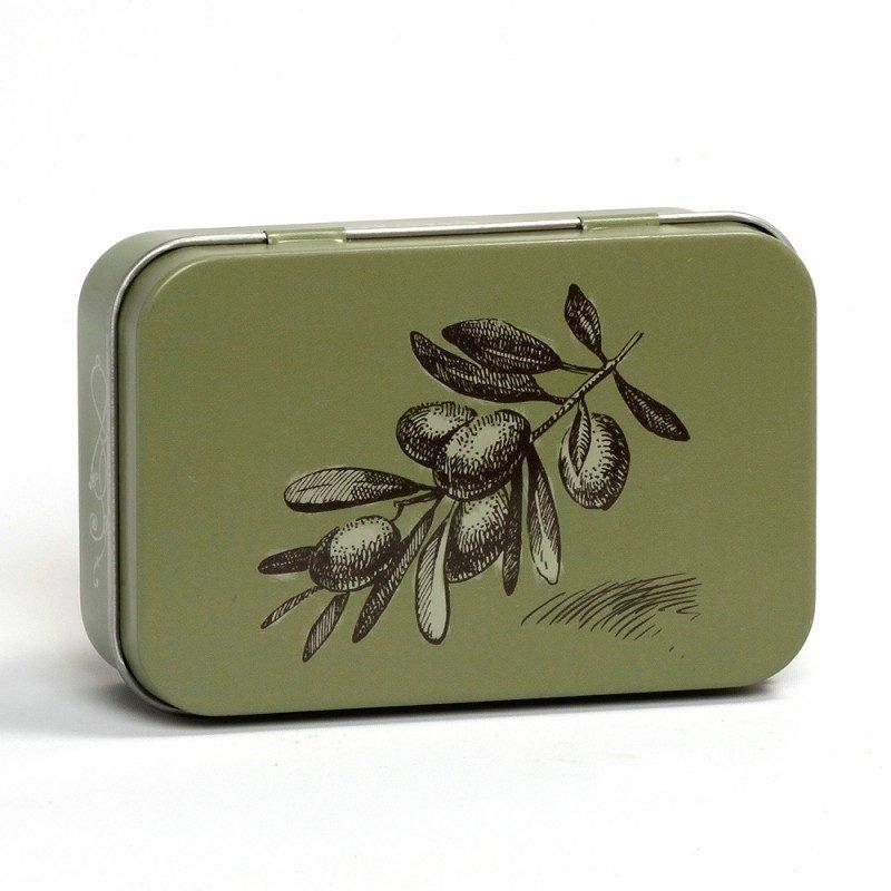 Boîte savon métal - Olive