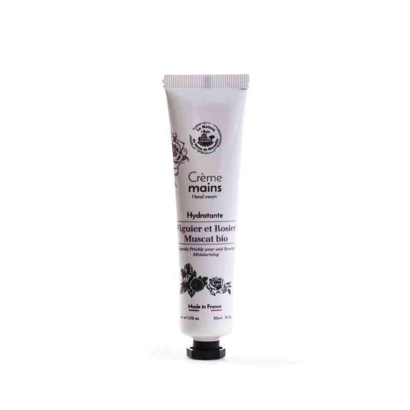 Crème Mains tube 30ml FIGUE DE BARBARIE et ROSIER Bio