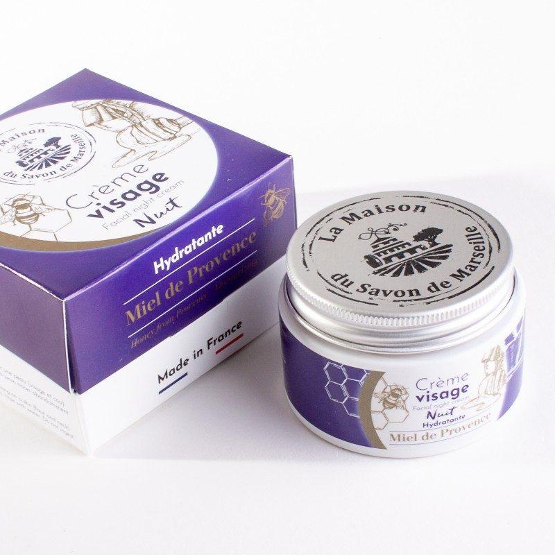 Crème Visage de nuit - pot de 50ml - Miel de Provence