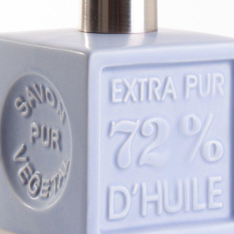 Distributeur de savon 'Cube' céramique - Bleu clair