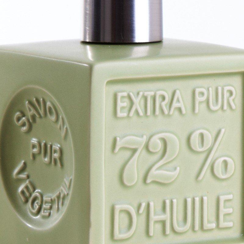 Distributeur de savon 'Cube' céramique - vert olive
