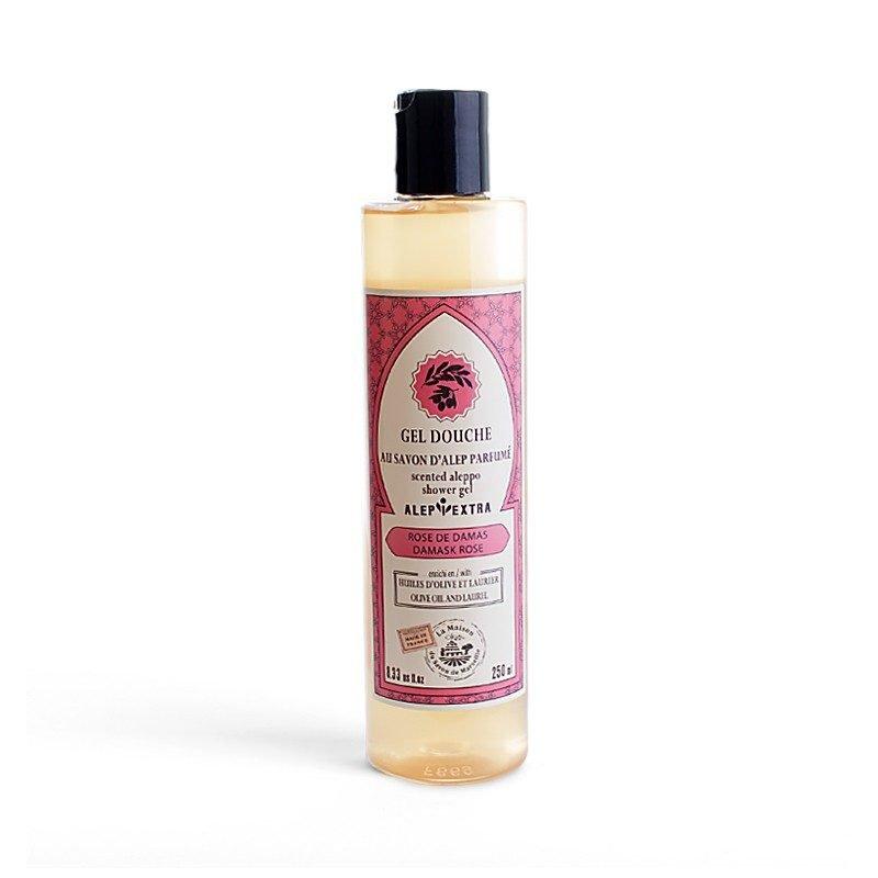Gel douche au Savon d'Alep parfumé - ROSE DE DAMAS