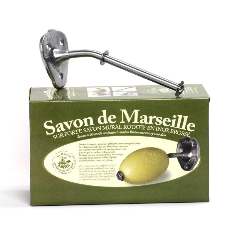 Porte savon mural - acier inoxydable mat
