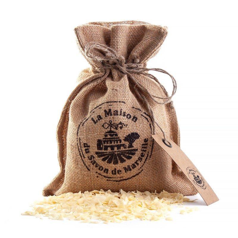 Sac de jute de copeaux de savons de Marseille (500g)