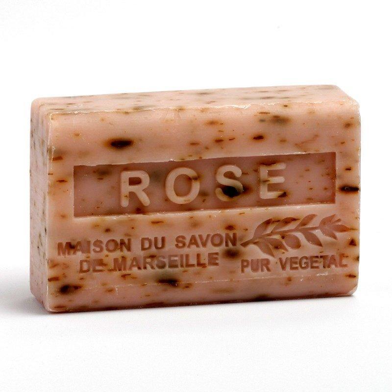 Savon 125gr au beurre de karité bio- ROSE PETALES