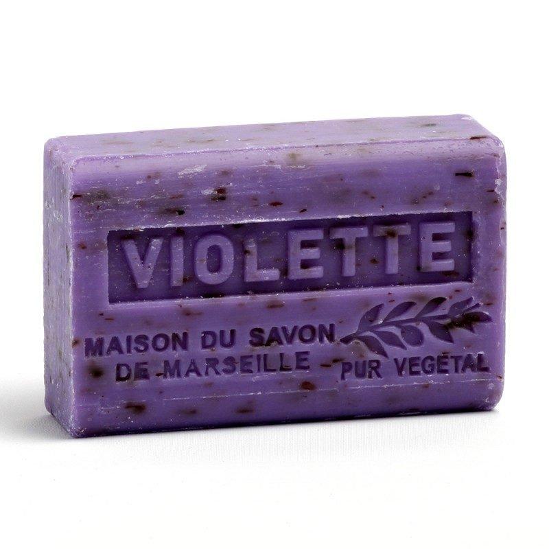 Savon 125gr au beurre de karité bio- VIOLETTE FLEUR