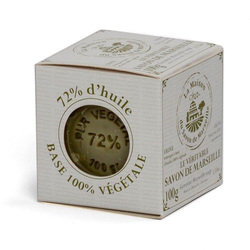 Savon de Marseille en boîte - Cube 100gr 72% Huile d'Olive