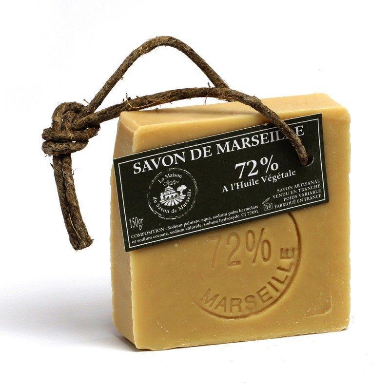 Savon de Marseille - Tranche 150gr 72% Huiles végétales