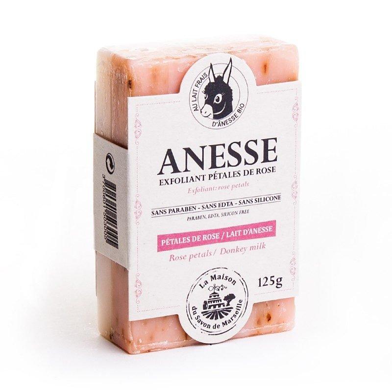 Savon DUO 125gr au lait d'anesse - PETALE ROSE/ANESSE