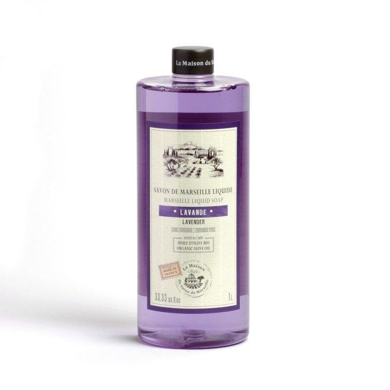 Savon liquide de Marseille 1L LAVANDE - Huile d'olive Bio