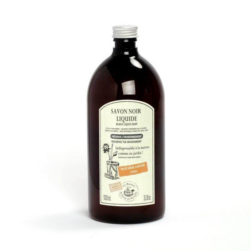 Savon Noir Liquide Ménager 1L ORANGE DOUCE