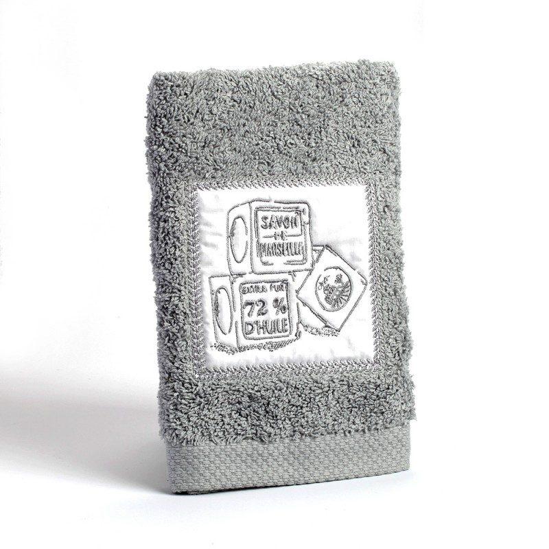 Serviette éponge invité 30x50 - blanche 100% coton