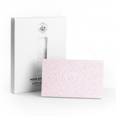 Porte savon Diatomite - Rectangle couleur Rose